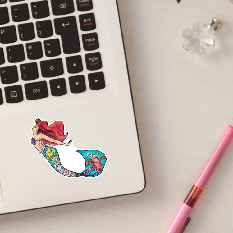 Cartoon Mermaid Princess Sticker