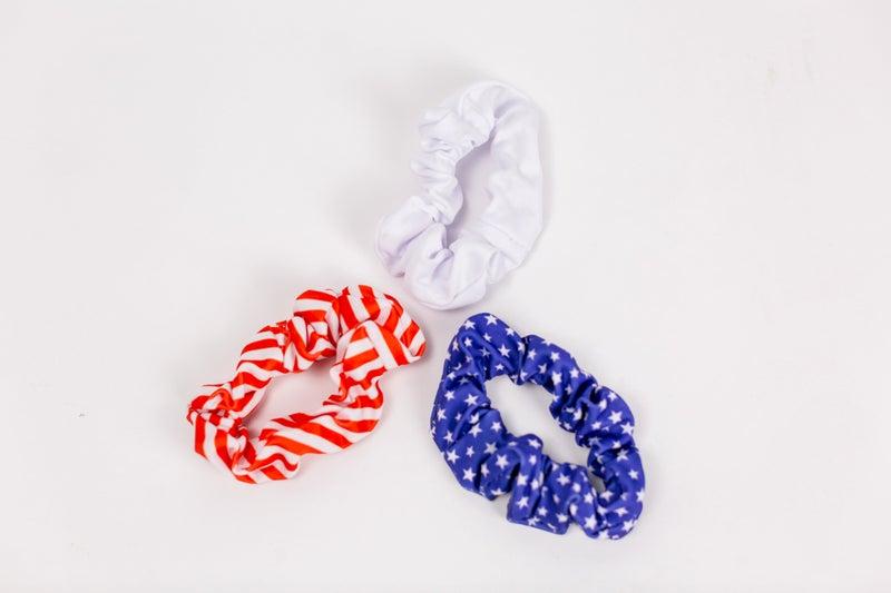 Stars and Stripes Love Scrunchie Set