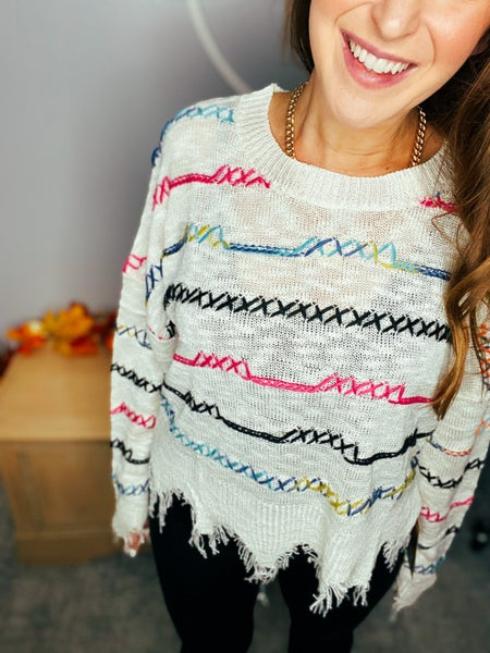 Fall Preview: Rainbow Sweater by Wild Honey