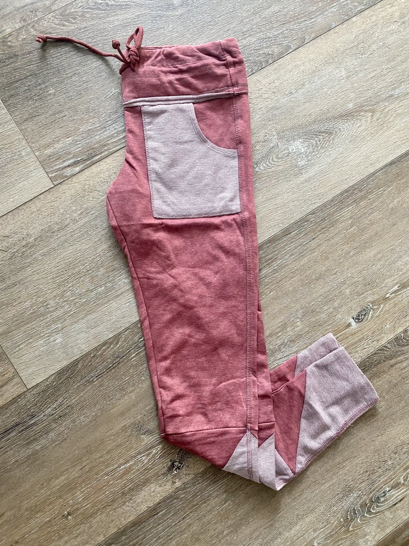 Red Walking Out On You Legging/Joggers by Rae Mode