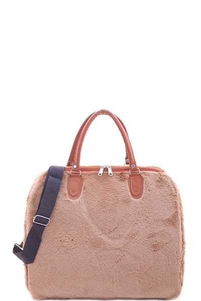 Fuzzy and Happy Weekender Bag