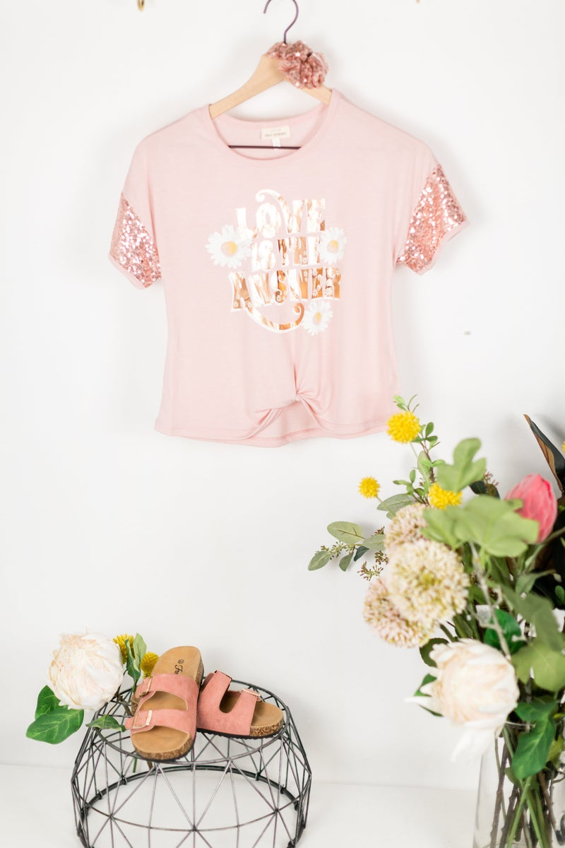 Girls Love Is The Answer Tee + Scrunchie