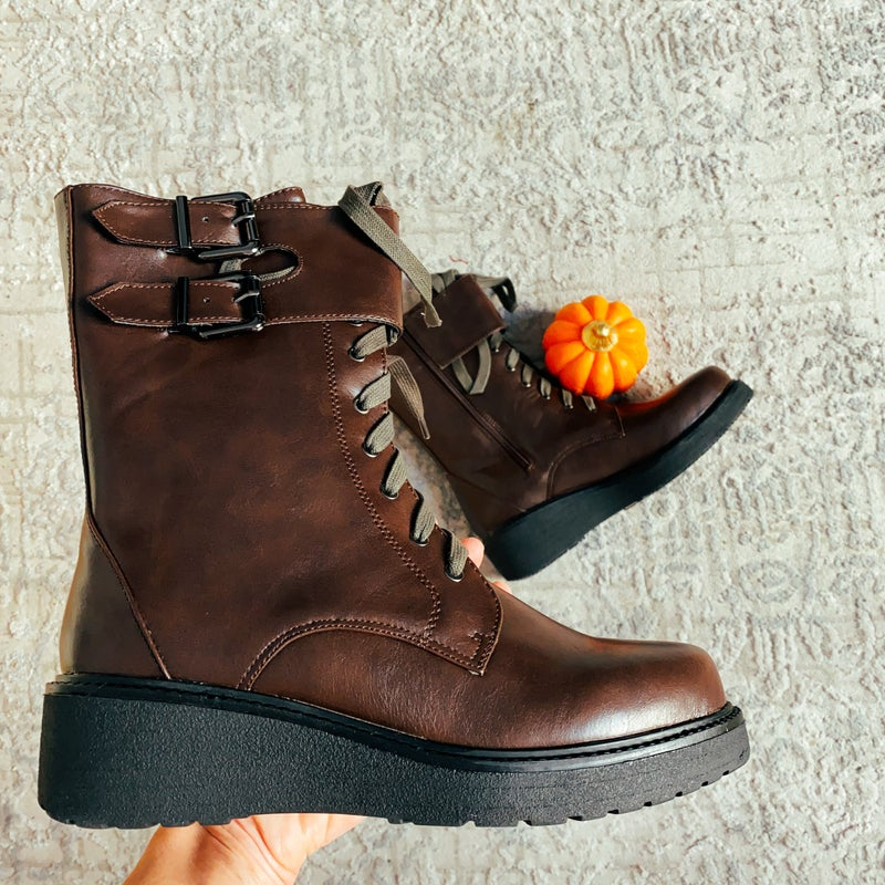 Brown Falls Perfect Wedge Boot