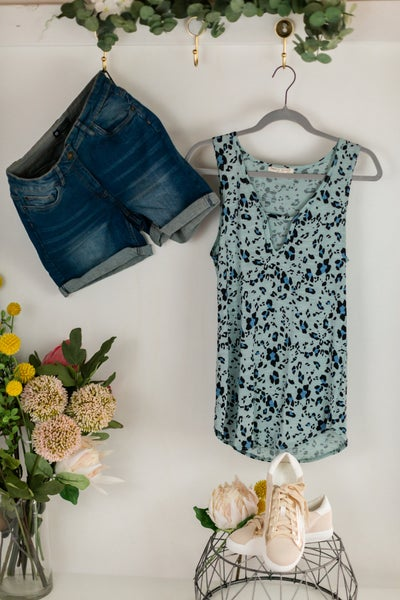 The Leopard Blues Tank by 22nd