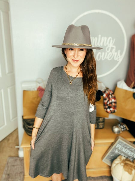 Grey To The Cloud Dress