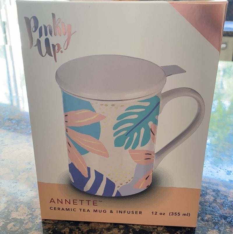 Pinky Up - Annette™ Fiji Ceramic Tea Mug & Infuser by Pinky Up®