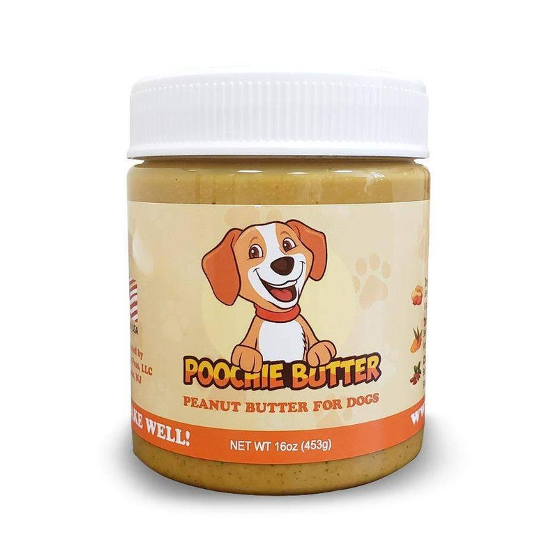 Poochie Butter - All Natural Dog Peanut Butter (w/ 5 Added Ingredients)