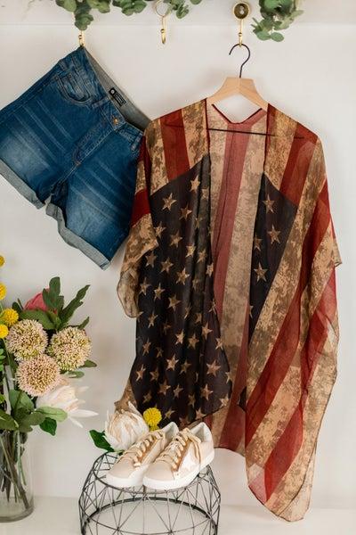 Vintage Patriot Kimono
