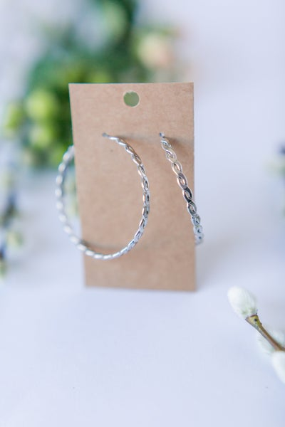 Twisted Wires Hoops