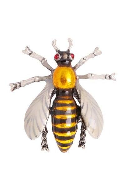 Buzzing By Bee Broach