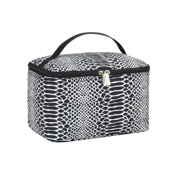 Out and About Snakeskin Cosmetic Bag