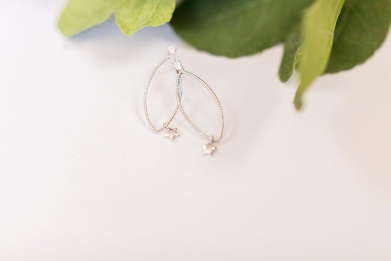 Sterling Silver Star Falling Earrings