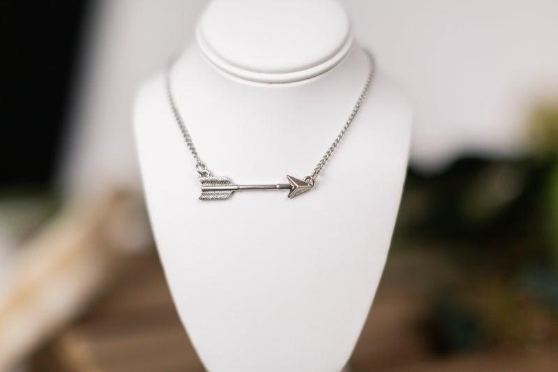 Shot Through The Heart Arrow Necklace