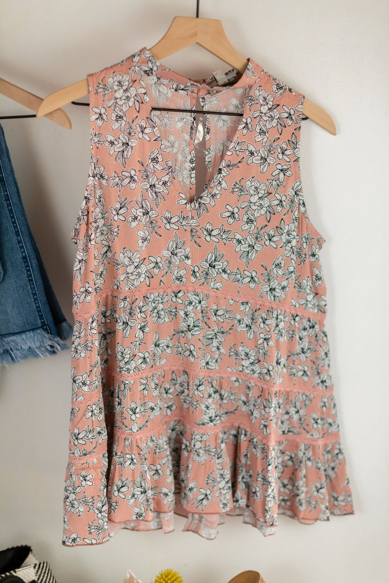 Best of Times Sleeveless Blouse by Blue Heaven