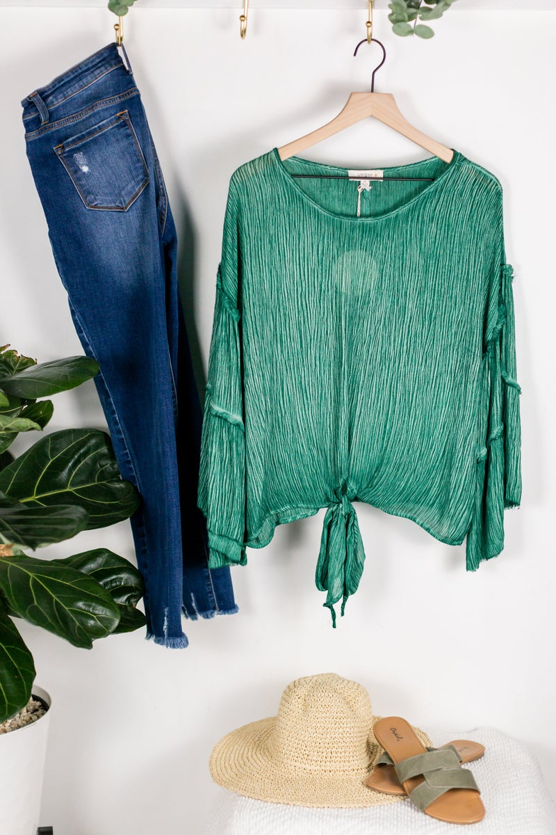 Plus Crinkle It Up Blouse by Umgee