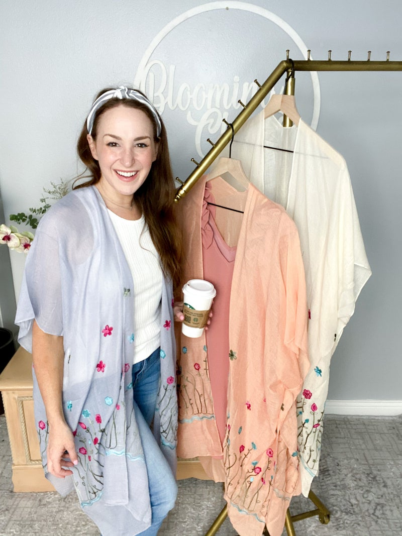 Light and Breezy Embroidered Kimono