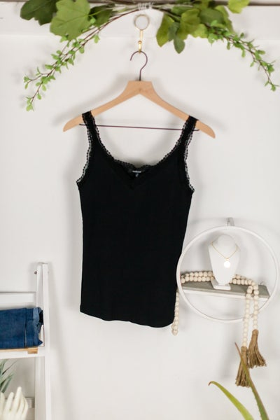 Always Into You Black Lace Cami