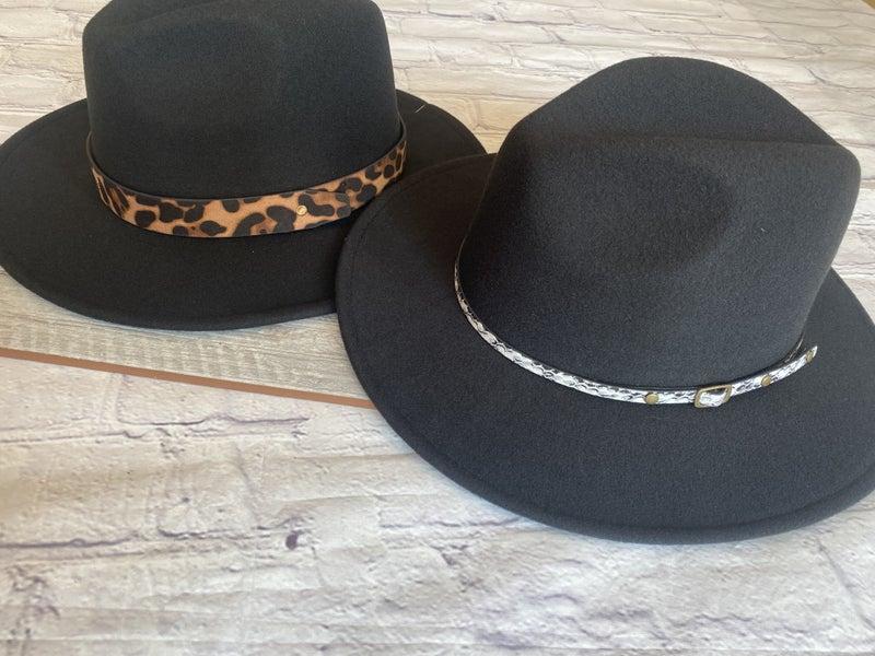 Fall Felt Hat with Animal Trim Band