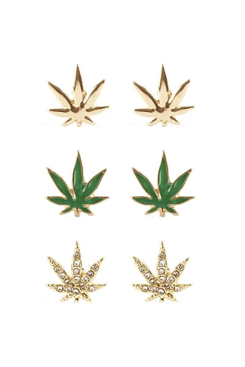 """Happy Leaf"" Earrings"