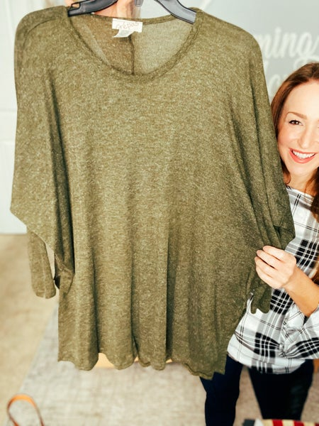 Plus Olive Branch Sweater