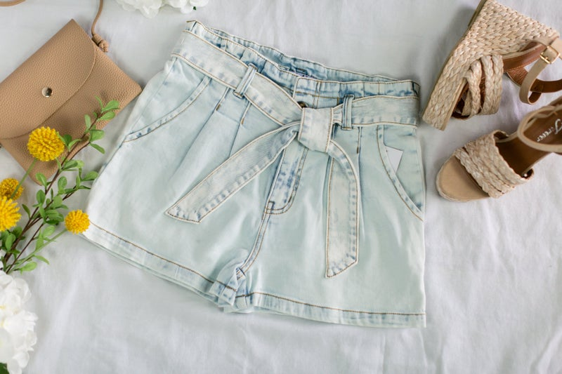 Let's Getaway Paper Bag Shorts