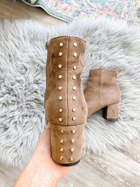 Courtney Taupe Stud Booties