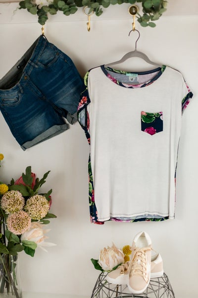 Floral Got Ya Back Top by P.S.Kate