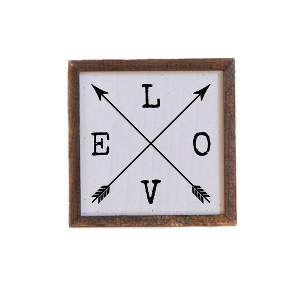 6X6 Love Sign With Arrows