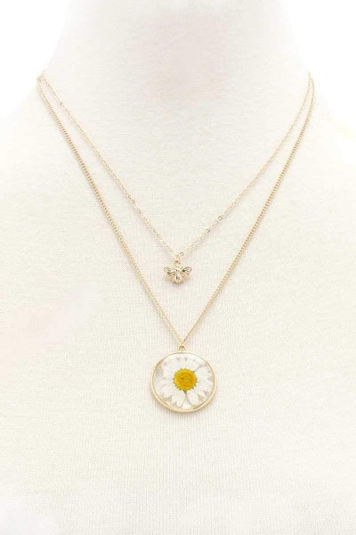 Bees Love Flowers Necklace