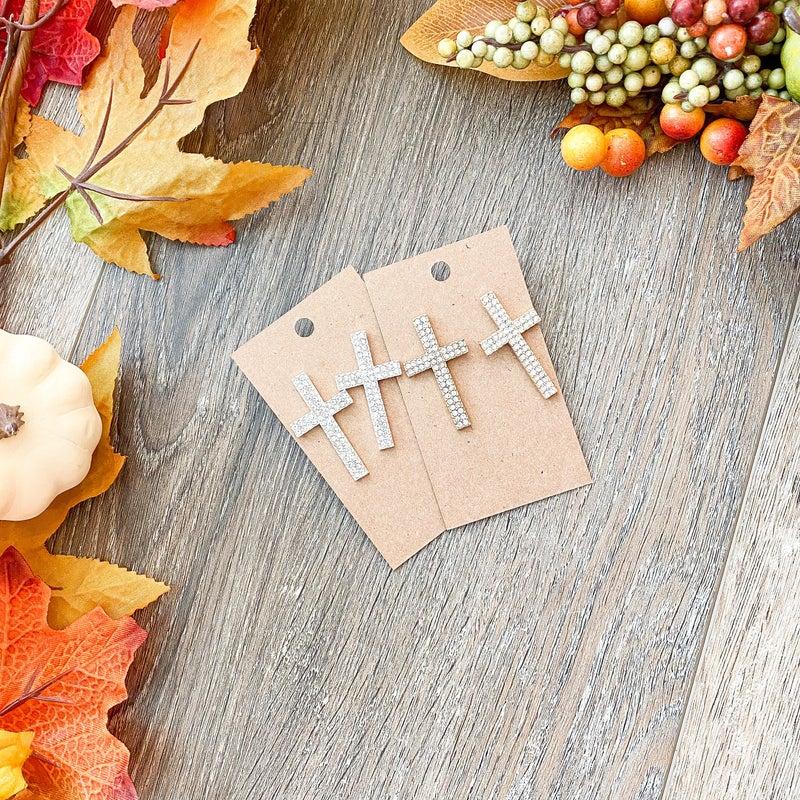Fall Doorbuster: Bling Cross Earrings