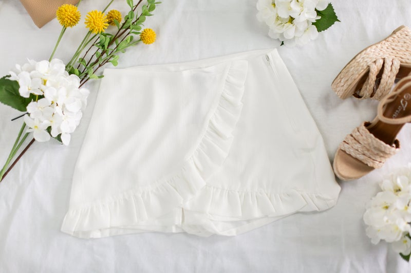 Delightfully Breezy White Skort by Milk & Honey
