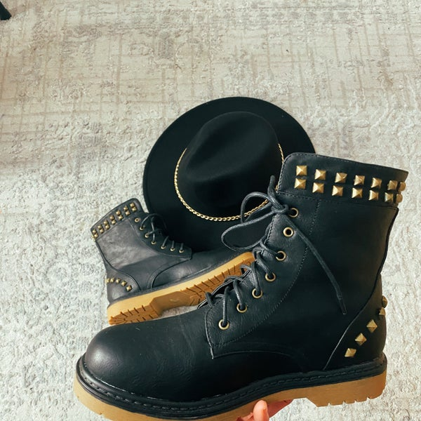 Black Falls Perfect Studded Boot