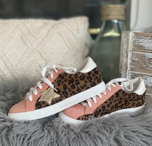 Blush Leopard Star Lovin' Sneaks