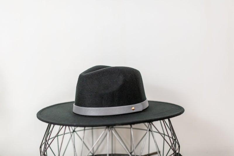 Belted Straight Brim Hat