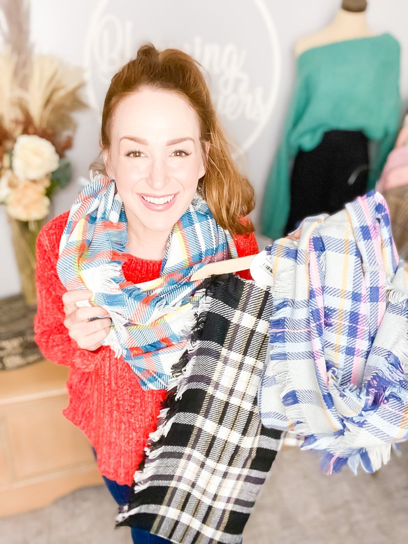 Need That! Plaid Infinity Scarf