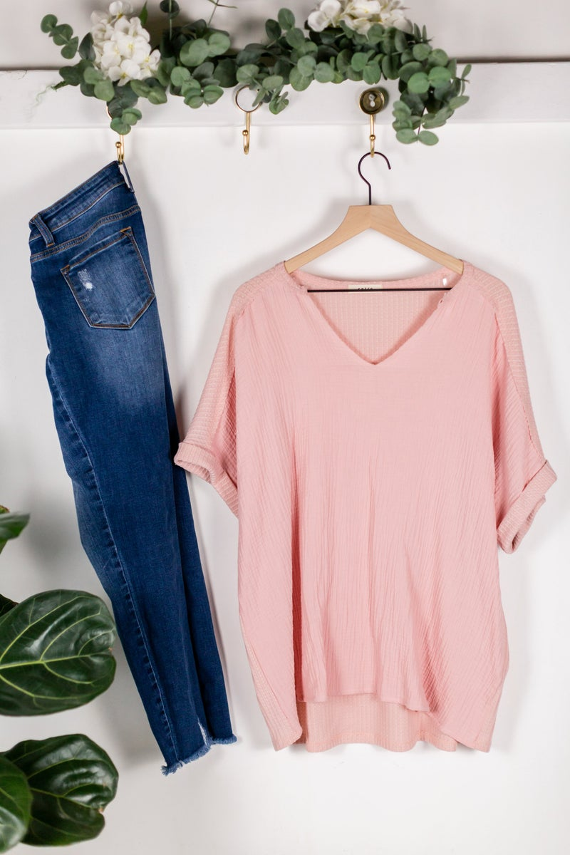 Plus Tickled Pink Top by Entro