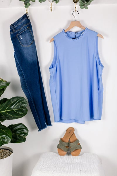 A Blue Sky Day Sleeveless Blouse by Mittoshop