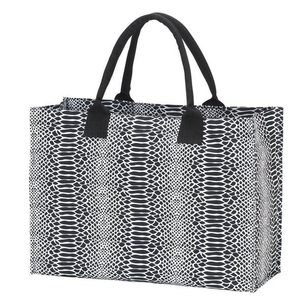 Out and About Snakeskin Tote