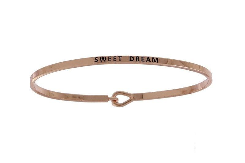 Rose Gold Sweet Dream Simple Stamped Bracelet
