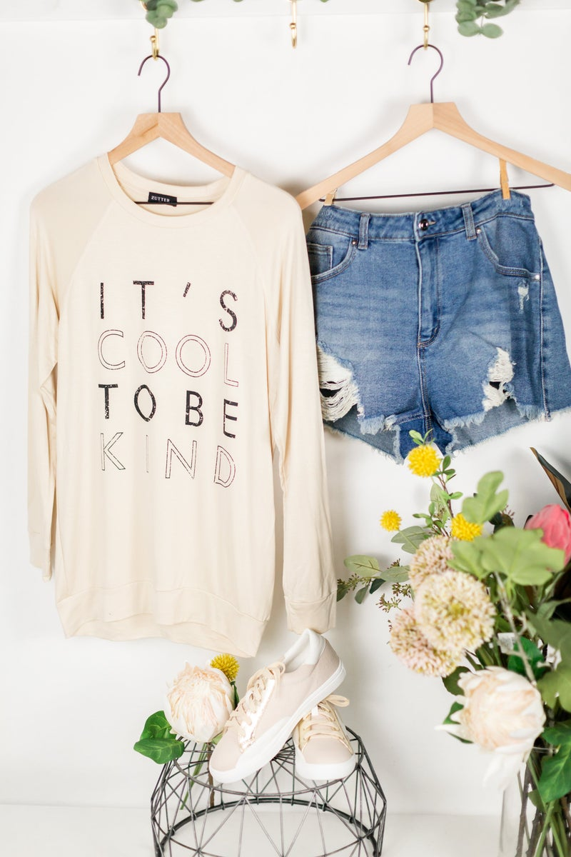 Its Cool To Be Kind Pullover by Zutter