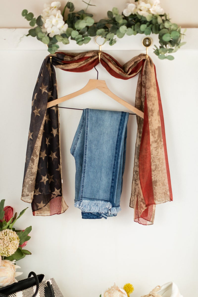 Vintage Patriot Sleeveless Kimono