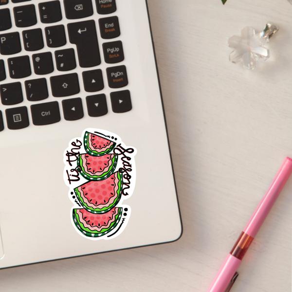 """Tis The Season Watermelon Sticker"