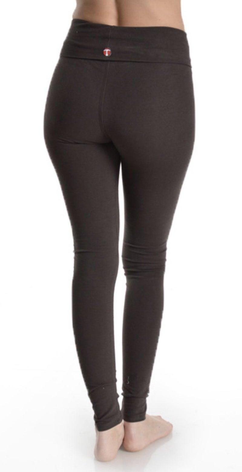 Classic Black Fold Over Leggings