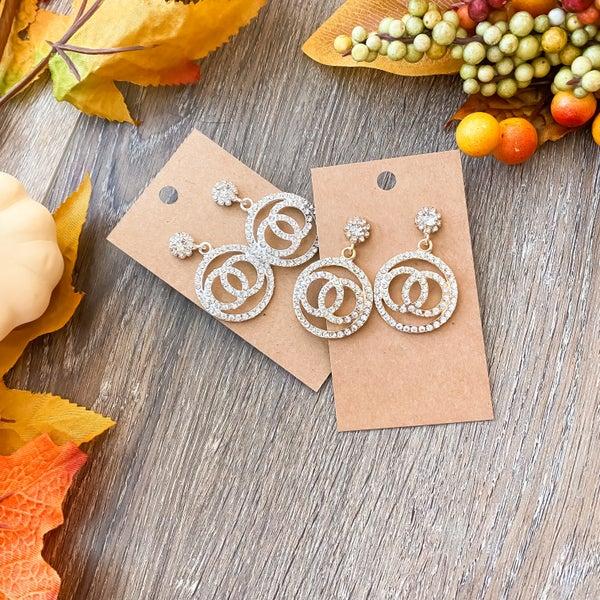 Fall Doorbuster: Bling Layered Circle Earrings