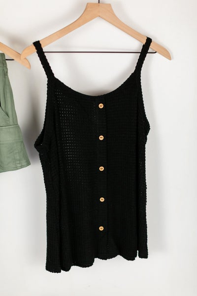 Plus Waffle It Up Button Down Cami by Mittoshop
