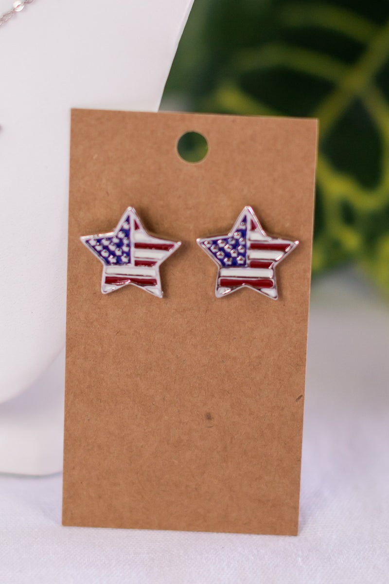 Stars and Stripes Forever Necklace or Earrings