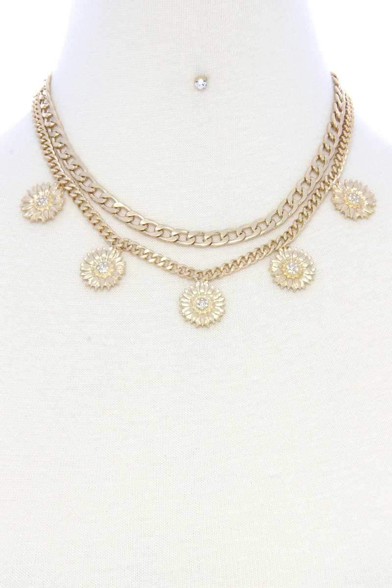 Daisy The Chain Necklace Set