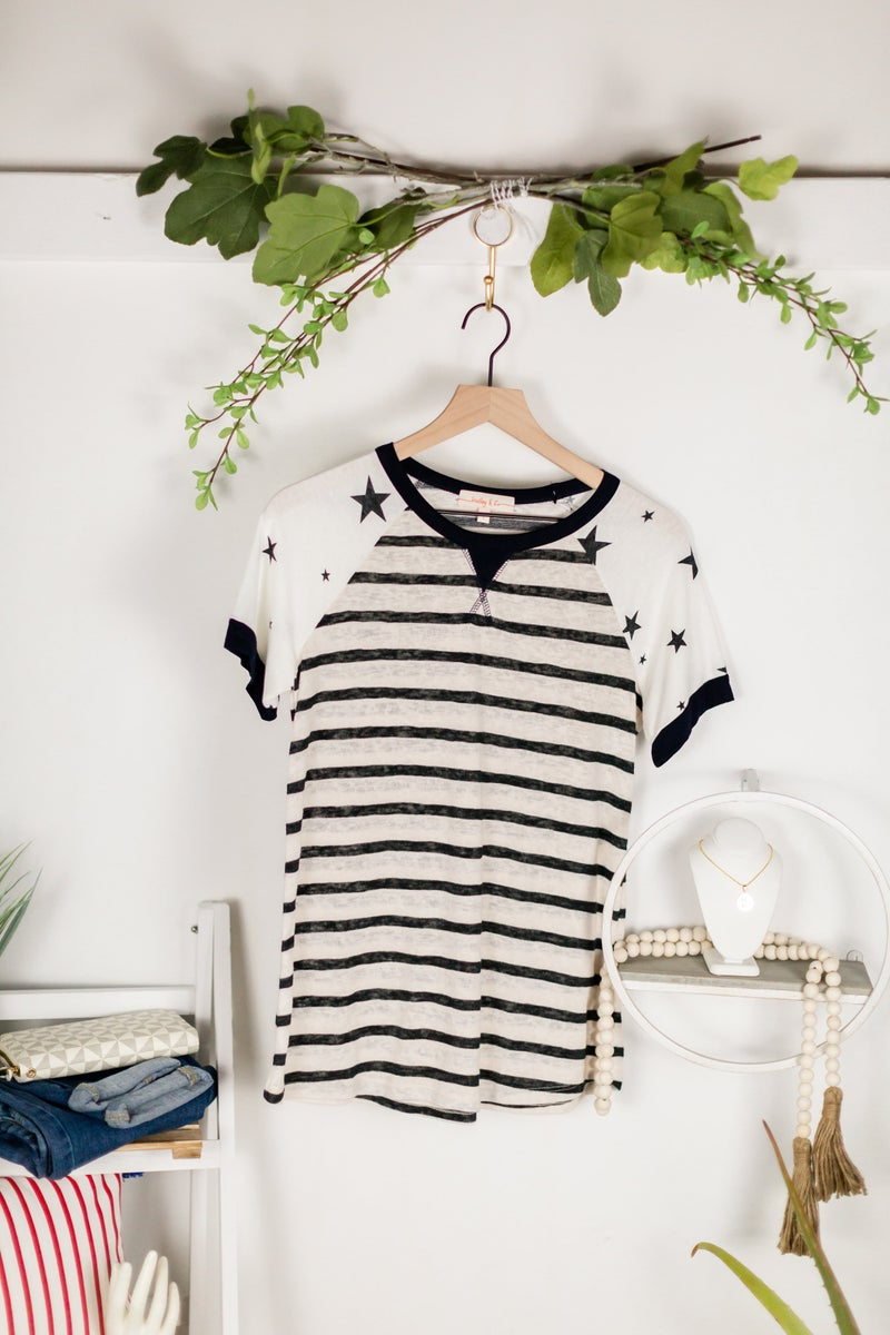 The Stars and Stripes Tee by Hailey and Co