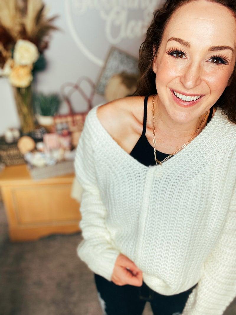 Ivory Hopeful Moments Sweater