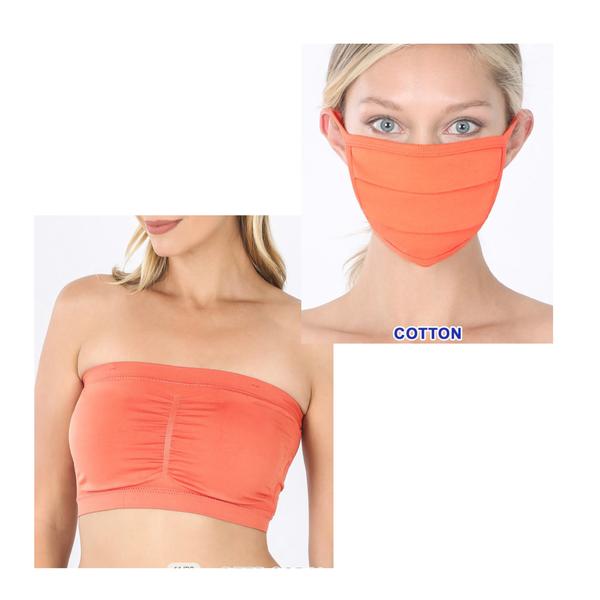 Addison Padded Bandeau + Mask Set